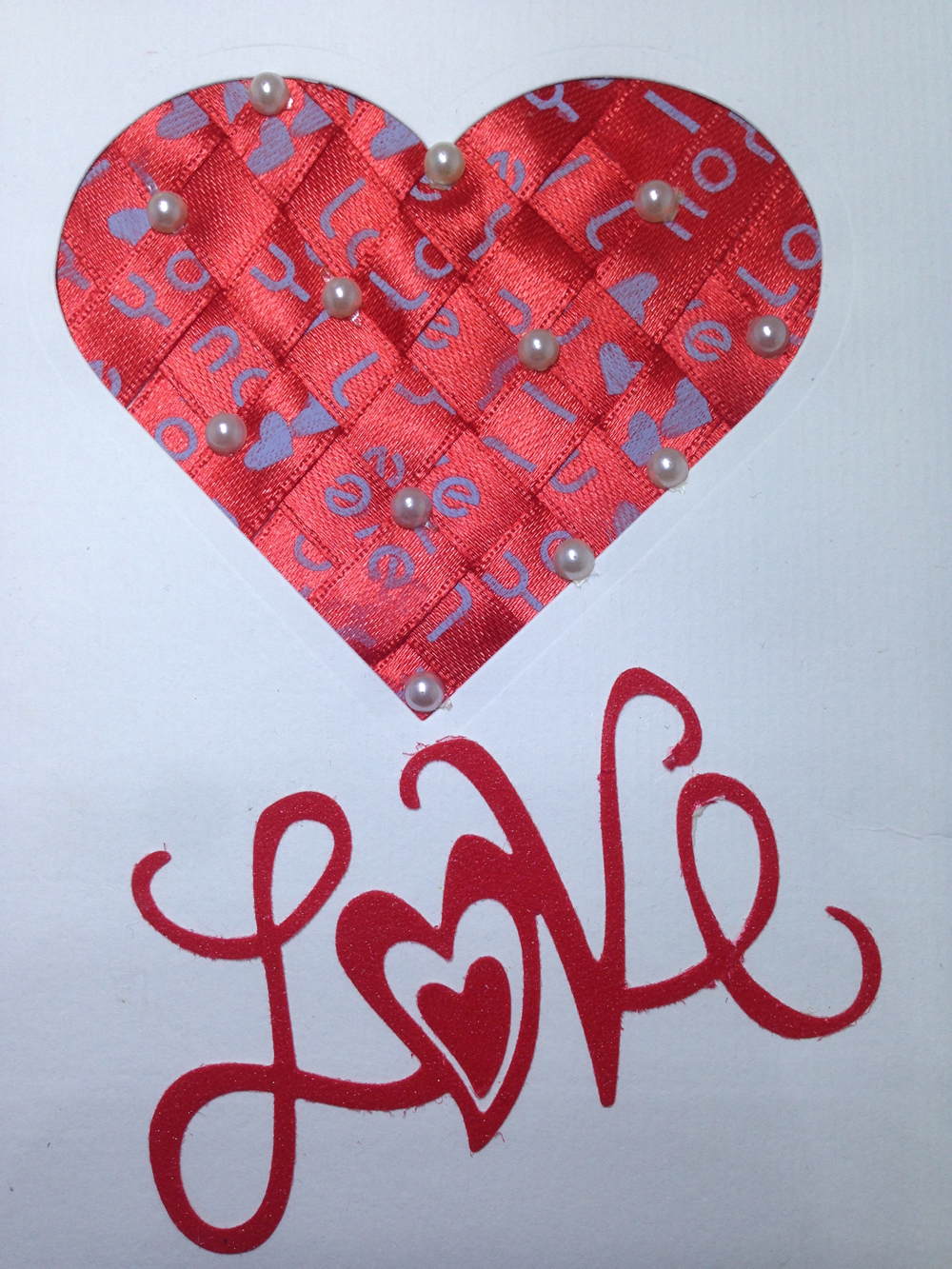 luxury handmade valentine day card  crafted with